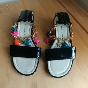 Marc Jacobs Black Patent Leather Sandals - used